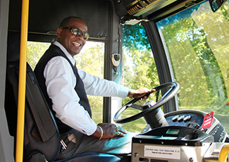 bus driver in bus