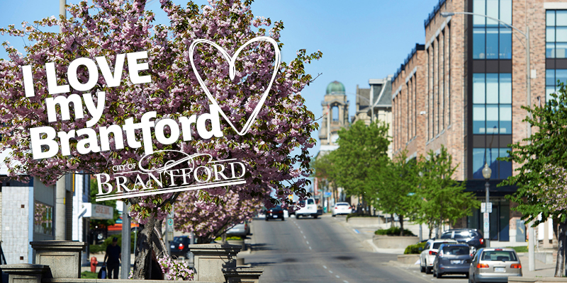 Downtown Brantford for the I LOVE my Brantford campaign