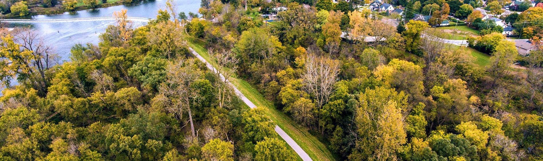 City of Brantford trail from above