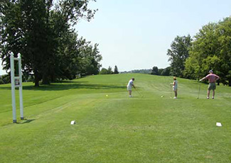 Golfers on arrowdale golf course