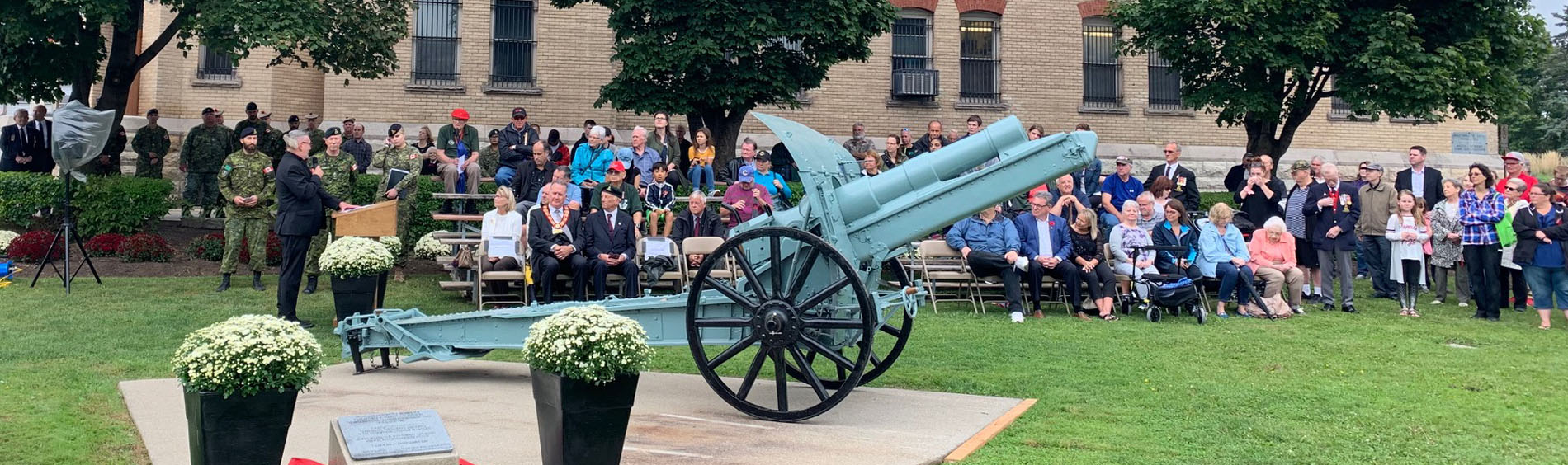 Field Howitzer Cannon Dedication